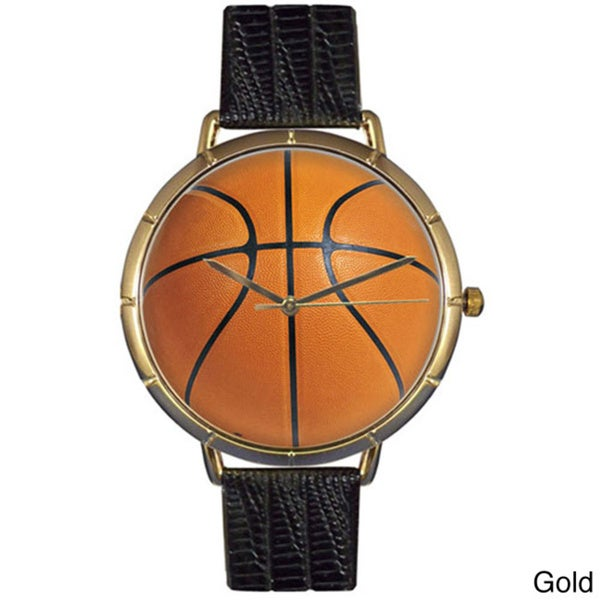 Basketball Lover Black Leather Photo Watch