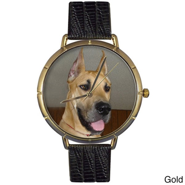 Great Dane Black Leather Photo Watch