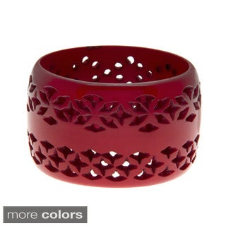 Handmade Brushed-Finish Lattice Bangle (India)
