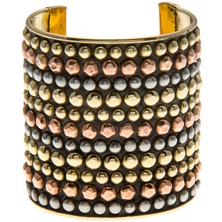 Multicolored Goldtone Cuff Bracelet (India)