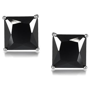 Journee Collection Sterling Silver Cubic Zirconia Square 7-mm Stud Earrings