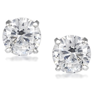 Tressa Sterling Silver Cubic Zirconia Round 7-mm Stud Earrings