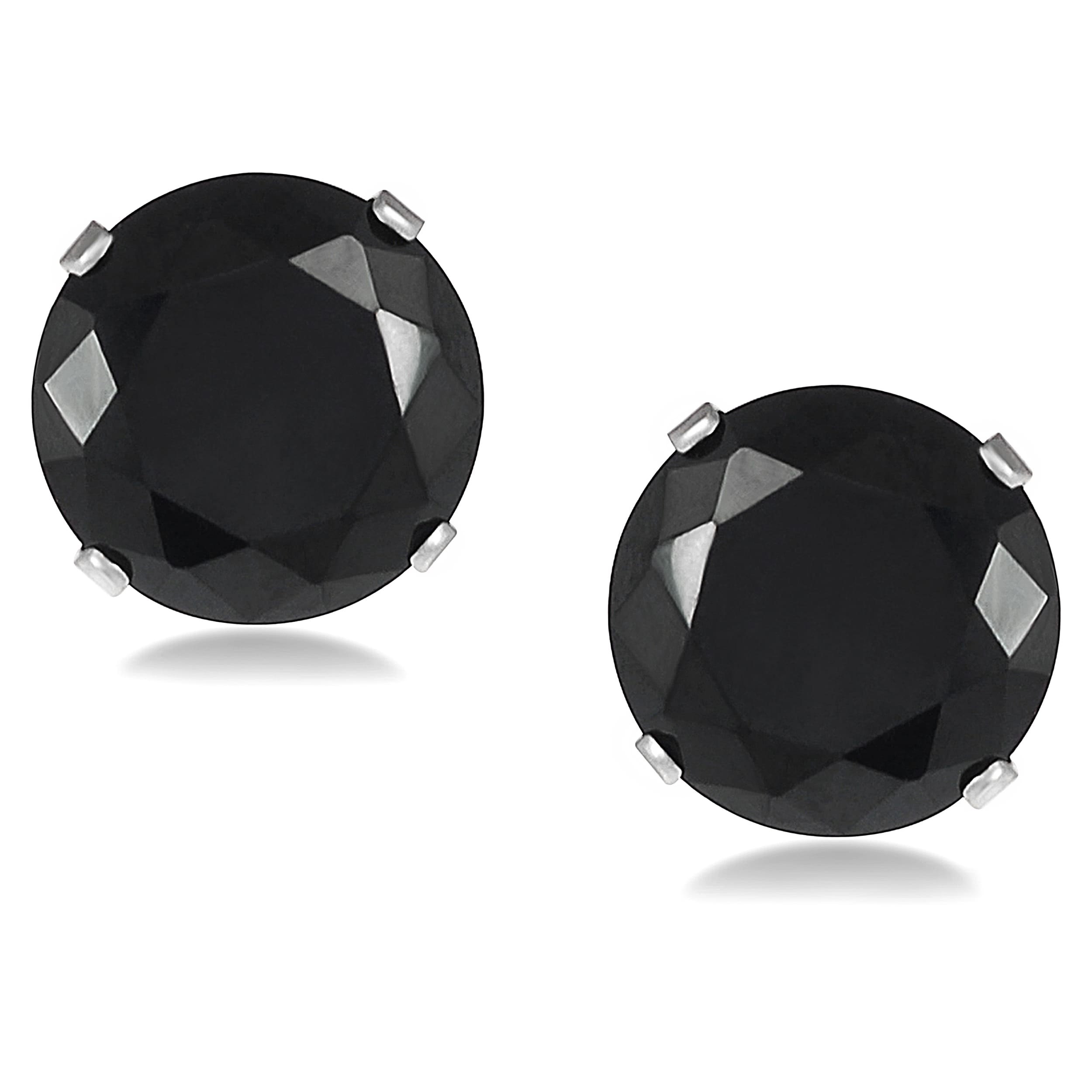 Black Cubic Zirconia Earrings For Men