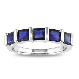 Miadora Signature Collection 18k White Gold Sapphire Ring