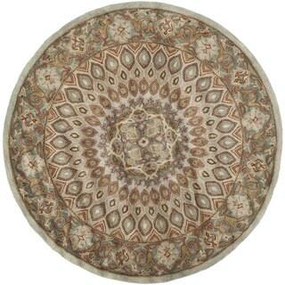 Safavieh Handmade Heritage Medallion Blue/ Grey Wool Rug (6' 6 Round)