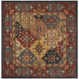 Handmade Heritage Majesty Red Wool Rug (10' Square)