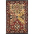 Safavieh Handmade Heritage Majesty Red Wool Rug (2' x 3')