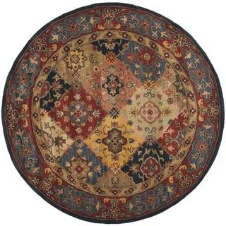 Safavieh Handmade Heritage Majesty Red Wool Rug (8' Round)