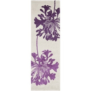 "Safavieh Porcello Ivory/Purple Rug (2'4"" x 6'7"")"