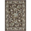 Safavieh Veranda Piled Chocolate Brown/ Aqua Green Rug (6' 7 x 9' 6)