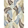 Safavieh Veranda Piled Cream/ Aqua Green Rug (8' x 11' 2)