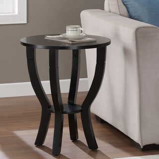 Lewis Distressed Black End Table