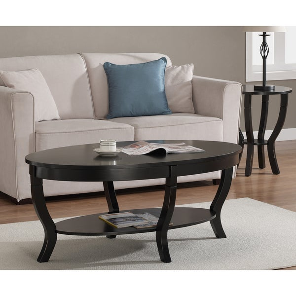 Lewis distressed black coffee table for Coffee tables overstock