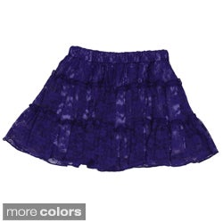 Sweetheart Jane Girl's Ruched Lace Skirt