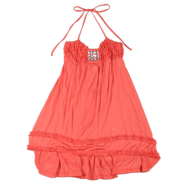 Sweetheart Jane Girls' Coral Hi-low Dress