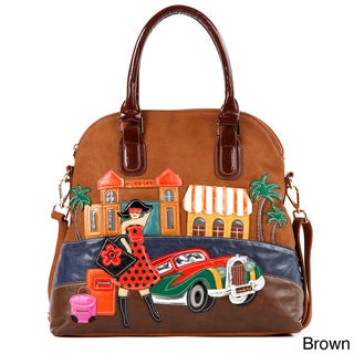Nicole Lee 'Bega Vacation' Patchwork Dome Tote Bag