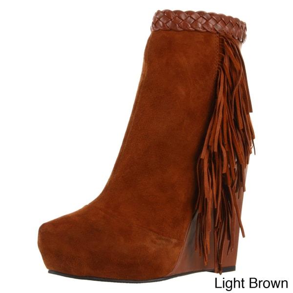 Boutique 9 Women's 'Cerys' Suede Fringe Ankle Boots