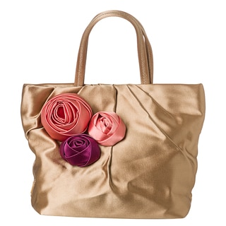 Prada &#39;Raso&#39; Satin PleatedTote Bag