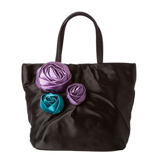 Prada &#39;Raso&#39; Pleated Rose Mini Tote