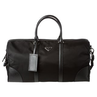 Prada Black Nylon Duffel Bag