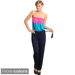 Stanzino Colorblocked Strapless Jumpsuit