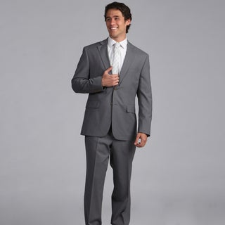 Nautica Men&#39;s Light Grey Stripe 2-piece Suit