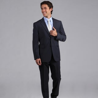 Nautica Men's Blue Screen Weave 2-button Suit