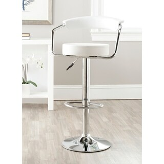 Safavieh 25.2-31.5-inch Angus White Adjustable Swivel Bar Stool
