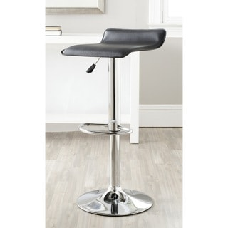 Safavieh Sheba Black Adjustable Height Swivel 22.4-30.7-inch Adjustable Bar Stool