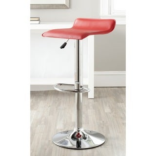 Safavieh Sheba Red Adjustable Height Swivel Bar Stool