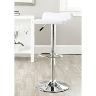 Safavieh Sheba White Adjustable Height Swivel Bar Stool