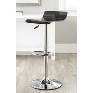 Safavieh Yance Black Adjustable Height Swivel Bar Stool