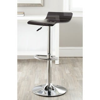 Safavieh Yance Black Adjustable Height Swivel 22.8-31.5-inch Adjustable Bar Stool