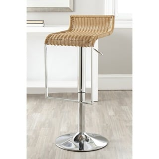 Safavieh Zandrea Natural Adjustable Height Swivel Bar Stool