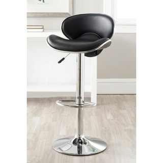 Safavieh Shambi Black Adjustable Height Swivel Bar Stool