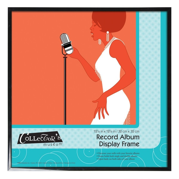 MSC 12.5 inches x 12.5 inches Black Aluminum Record Album Display Frame