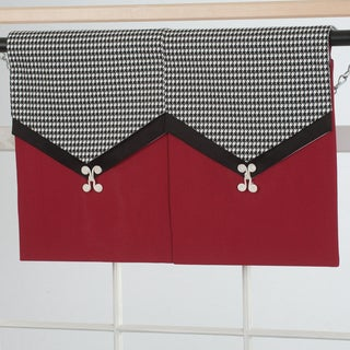 Design a Valance Houndstooth 2-Panel Valance
