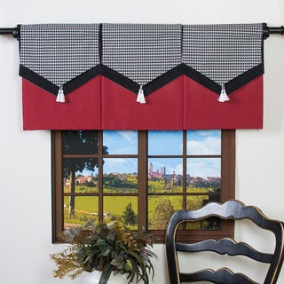 Design Your Valance Houndstooth 3-Panel Valance