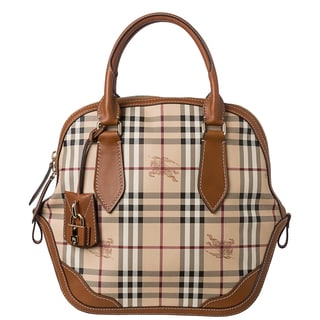 Burberry 'Orchard' Medium Haymarket Check Satchel