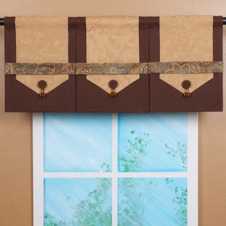 Design Your Valance Brown 3-Panel Valance