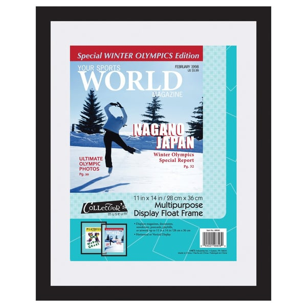 MCS 11-inch x 14-inch Magazine Display Float Frame