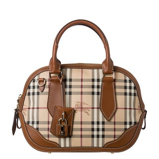 Burberry 'Orchard' Haymarket Check Satchel