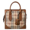 Burberry &#39;Classic Honeywood&#39; Small Haymarket Check Tote Bag