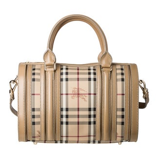 Burberry 'Haymarket Check' Medium Metallic Detail Bowler Bag