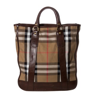 Burberry 'Vintage Washed Check' Tote Bag