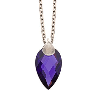 ELLE Jewelry Sterling Silver Purple Cubic Zirconia Necklace