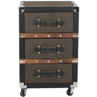 Safavieh Lewis Brown 3-Drawer Rolling Chest