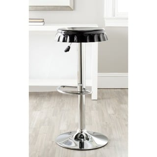 Safavieh Bunky Black Adjustable Height Swivel Bar Stool