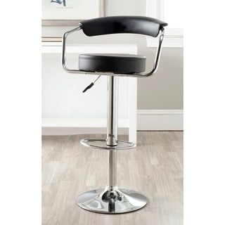 Safavieh Angus Black Adjustable Height Swivel Bar Stool