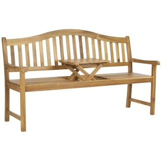 Safavieh Mischa Teak Outdoor Bench